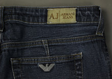 "Load image into Gallery viewer, ARMANI JEANS Ladies Blue Denim INDIGO 007 Bootcut JEANS Size Waist 30"" - Leg 31"""