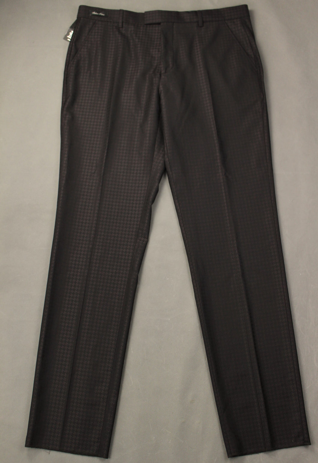 New TED BAKER PASHION Mens RAFAELT Brown Jacquard TROUSERS Size 36R - Waist 36