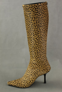 JIMMY CHOO Animal Print High Heeled Knee High BOOTS - Size EU 38.5 / UK 5.5