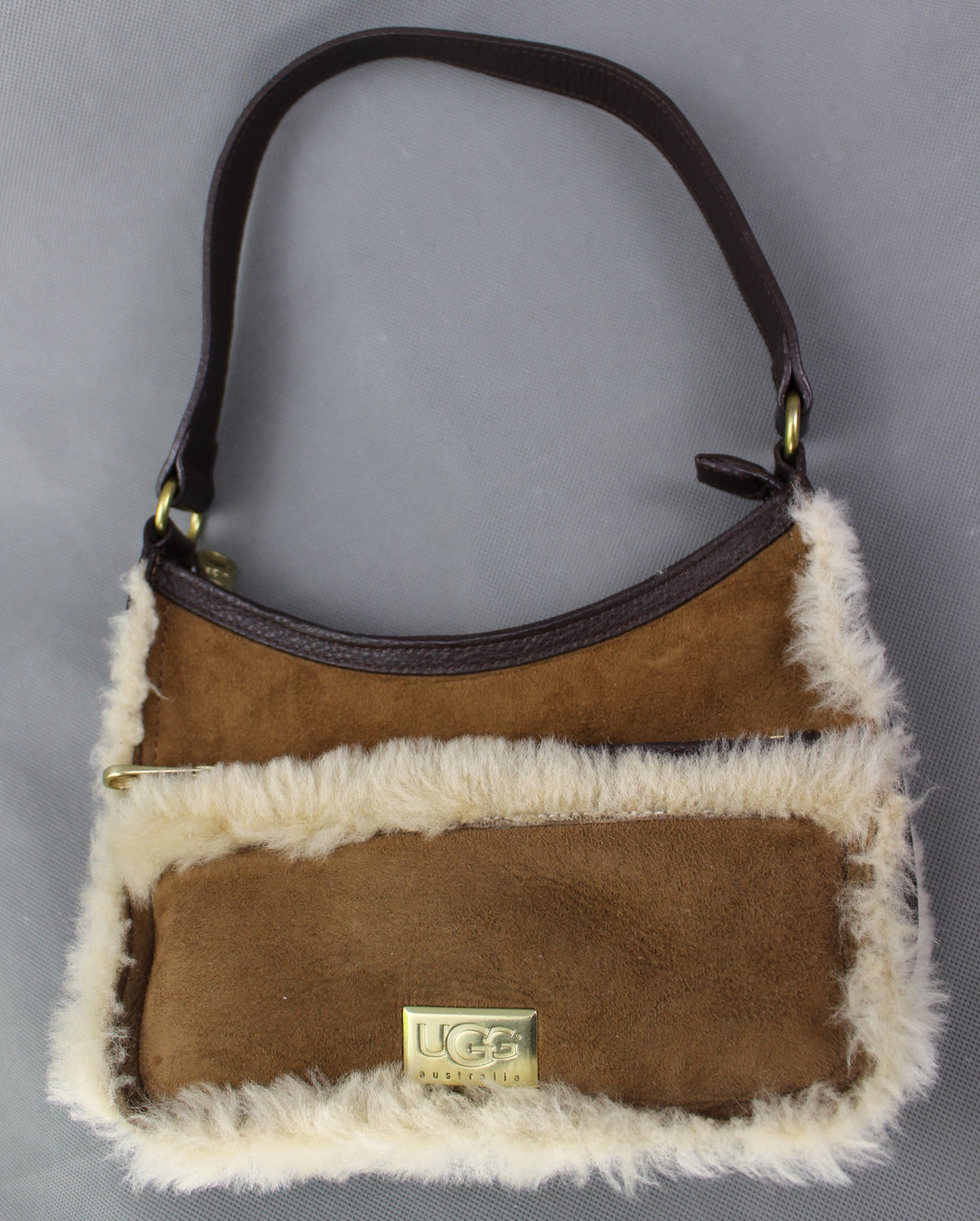UGG Australia Brown Real Dyed Shearling Sheepskin HANDBAG - UGGS Bag