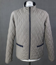 Load image into Gallery viewer, AQUASCUTUM Mens Vicuna Club Check Pattern Quilted JACKET / COAT - Size Large - L