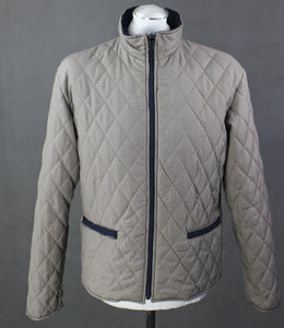 AQUASCUTUM Mens Vicuna Club Check Pattern Quilted JACKET / COAT - Size Large - L