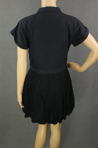 ALLSAINTS Ladies Black ANGLAIS SHIRT DRESS - Size UK 10