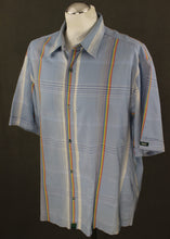 Load image into Gallery viewer, PAUL SMITH JEANS Rainbow Check Pattern Blue SS SHIRT Size XL Extra Large