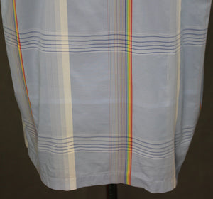 PAUL SMITH JEANS Rainbow Check Pattern Blue SS SHIRT Size XL Extra Large