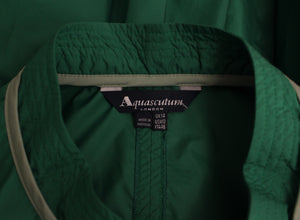 AQUASCUTUM Ladies Green Showerproof Mac Style DRESS - Size UK 14 - IT 46