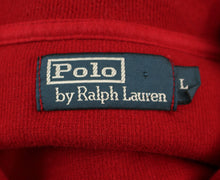 Load image into Gallery viewer, POLO by RALPH LAUREN Mens Red Zip Neck JUMPER - Size LARGE L