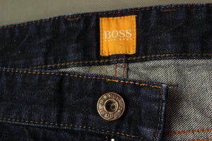 "HUGO BOSS Mens ORANGE24 BARCELONA STAR Blue Denim JEANS Size Waist 38"" - Leg 36"""