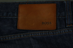 "HUGO BOSS Mens MAINE1 Blue Denim Regular Fit JEANS Size Waist 38"" - Leg 36"""