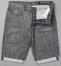 Load image into Gallery viewer, ALLSAINTS Mens Grey Denim CASSIDY DUKE FIT SHORTS - Size Waist 32""