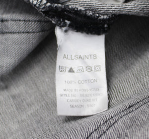 ALLSAINTS Mens Grey Denim CASSIDY DUKE FIT SHORTS - Size Waist 32""