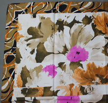 Load image into Gallery viewer, 100% SILK Floral Pattern SCARF - 88cm x 88cm - Made in Italy