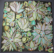 Load image into Gallery viewer, ECHO 100% SILK Floral Pattern SCARF - 88cm x 88cm