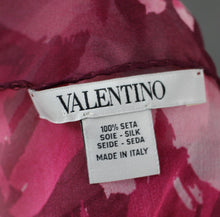 Load image into Gallery viewer, VALENTINO 100% SILK Pink Floral Pattern SCARF - 170cm x 65cm