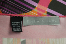 Load image into Gallery viewer, CLELIA & ROMY Pink 100% SILK SCARF - 66cm x 66cm - Made in Italy