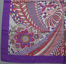 Load image into Gallery viewer, 100% SILK Purple SCARF - 86cm x 86cm - Made in Italy
