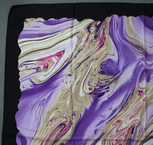 Load image into Gallery viewer, 100% SILK Purple SCARF - 87cm x 87cm - Made in Italy