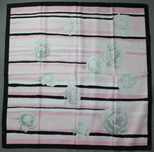 Load image into Gallery viewer, 100% SILK Pink Floral Pattern SCARF - 86cm x 86cm - Made in Italy