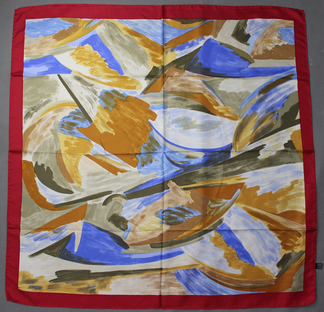 100% SILK SCARF - 85cm x 87cm - Made in Italy