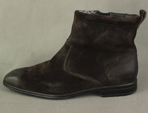 ROCKPORT Mens TESHLAR Chocolate Brown Suede BOOTS - Size US 12 - UK 11