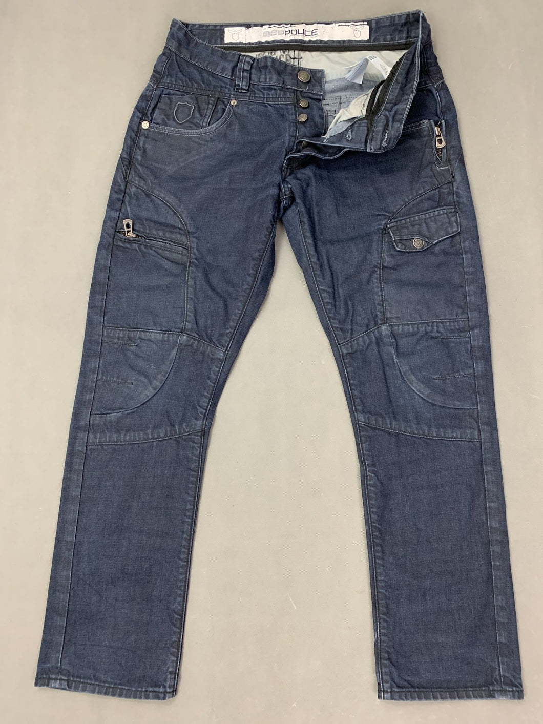 883 POLICE Mens HAVANA Blue Denim Regular Fit JEANS Size Waist 32