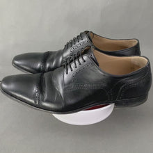 Load and play video in Gallery viewer, CHRISTIAN LOUBOUTIN Mens Black Leather Brogue Dress Shoes - Size EU 43 - UK 9
