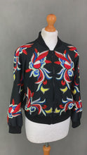 Load and play video in Gallery viewer, alice + olivia Black Silk FELISA Embellished BOMBER JACKET - Size XS Extra Small