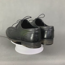 Load and play video in Gallery viewer, LOUIS VUITTON Mens Black Leather Derby Lace-Up Shoes - Size EU 41 - UK 7