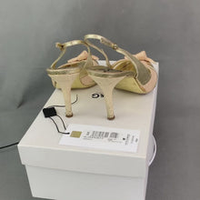 Load and play video in Gallery viewer, D&G DOLCE&GABBANA Ladies Gold SANDALO Slingback Heels - Size 38 - UK 5