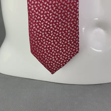 Load and play video in Gallery viewer, New TED BAKER Mens Red 100% SILK Micro Paisley CONURE 5.5cm TIE - BNWT
