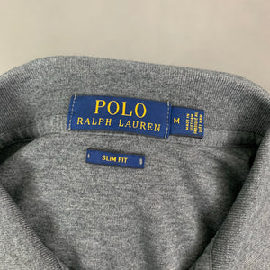 POLO RALPH LAUREN Mens Grey Slim Fit POLO SHIRT Size Medium M