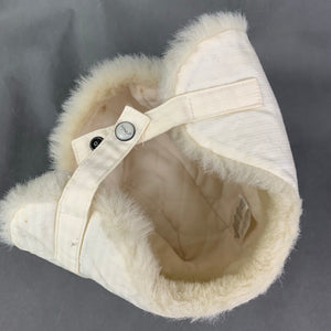 JOULES Ladies EIGER Faux Fur Trim Creme TRAPPER HAT Size Medium M