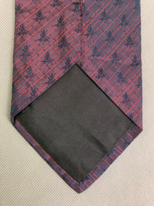 BOSS HUGO BOSS Mens Purple 100% SILK TIE - Made in Italy