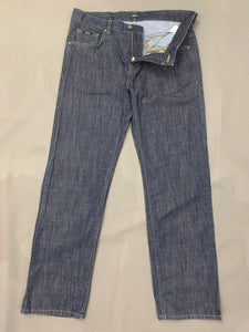 "HUGO BOSS Mens KANSAS Blue Denim Regular Fit JEANS Size Waist 34"" - Leg 32"""