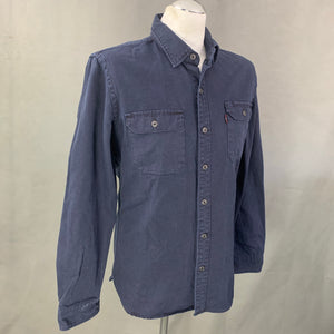 LEVI STRAUSS &Co Mens Dark Blue Denim SHIRT - Size Medium M LEVI'S LEVIS