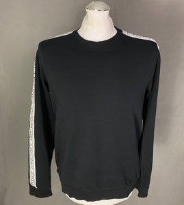 VERSACE JEANS Mens Black JUMPER / SWEATER - Size IT 48 - Medium M