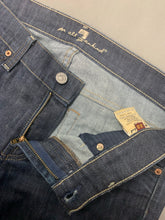 "Load image into Gallery viewer, 7 FOR ALL MANKIND Blue Denim ROXANNE JEANS Size Waist 28"" Leg 29"" 7FAM"