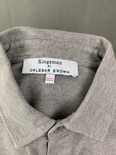 Load image into Gallery viewer, KINGSMAN by ORLEBAR BROWN Mens SEBASTIAN KING Grey POLO SHIRT Size Large L