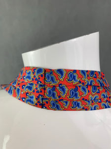 VAN BUCK Gentleman's Pure Silk Orange & Blue Paisley DRESS SCARF