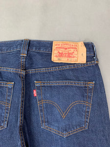"LEVI STRAUSS &Co Mens LEVI'S Blue Denim 501 JEANS Size Waist 32""  Leg 34"" LEVIS"