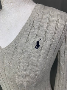 POLO RALPH LAUREN Ladies Cable Knit Jumper JUMPER Size XS Extra Small