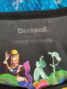 DESIGUAL inspired by CIRQUE DU SOLEIL Ladies TOP Size Extra Large XL