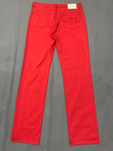 "BURBERRY Ladies Red Straight Leg JEANS Size Waist 31"" - Leg 32"""