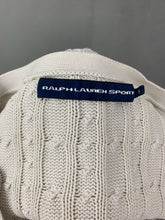 Load image into Gallery viewer, RALPH LAUREN Ladies Ivory Cable Knit CARDIGAN Size Small S