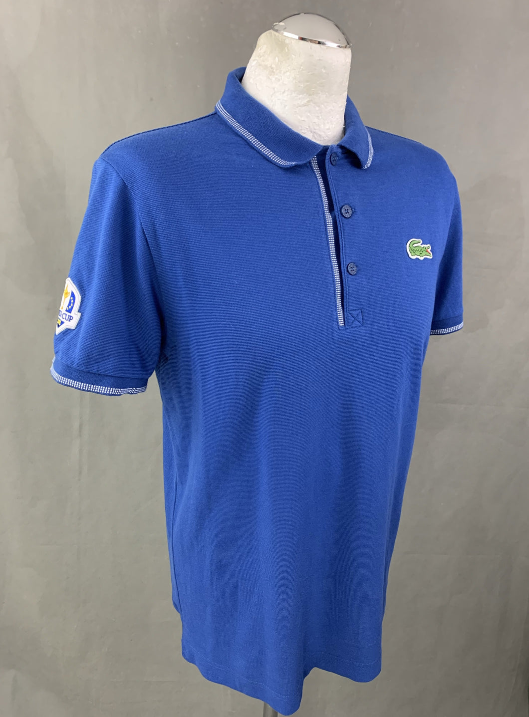 LACOSTE Mens RYDER CUP Blue POLO SHIRT Size 4 - Medium M