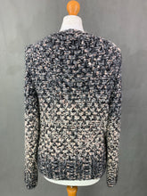 Load image into Gallery viewer, MARC CAIN Virgin Wool & Mohair Blend Chunky Knit CARDIGAN Size N2 Small S