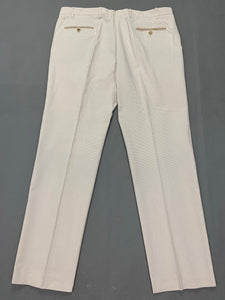 "BILANCIONI Mens Silk & Cotton Blend TROUSERS Size IT 58 - Waist 40"" - Leg 32"""