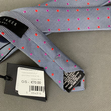 Load image into Gallery viewer, New TED BAKER Mens SPOTLIGHT Grey 100% Silk Dot Pattern TIE - BNWT