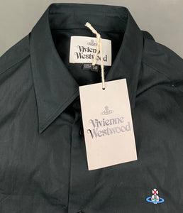 New VIVIENNE WESTWOOD Mens Black SHIRT Size IT 40 - Large - L BNWT