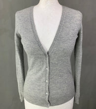 Load image into Gallery viewer, JOSEPH Ladies Grey 100% Cashmere Cardigan - Size Small - S